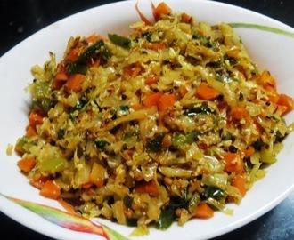 Jaundice recipes mytaste cabbage carrot capsicum palya forumfinder Choice Image