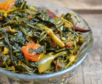 Kusum Bhaji Saag Recipe | Safflower Leaves Stir fry