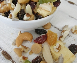 Snack saludable / trail mix {frutos secos, fruta y más}