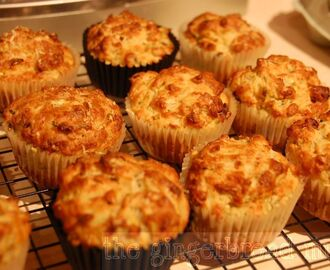 Savoury courgette and pine nut muffins