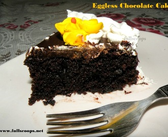 Eggless Moist Chocolate Cake Recipe (egg free and dairy free)