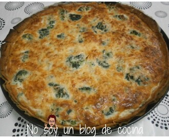 Quiche de brocolí y queso de cabra