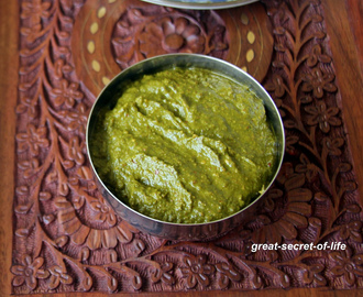 Methi chutney - Fenugreek leaves Dip - Methi Thogayal - Healthy side dish for rice / idli / dosa