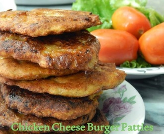 The Best Chicken Cheese Burger Patties Ever!!