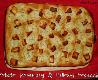 Potato, Rosemary & Halloumi Focaccia: GBBO Week #8