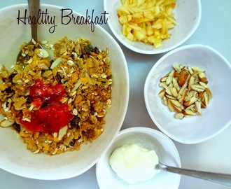 A healthy Breakfast  ...Muesli with nuts and fruit
