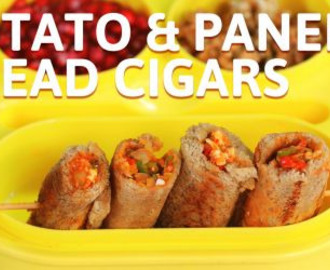Potato and Paneer Bread Cigars Recipe