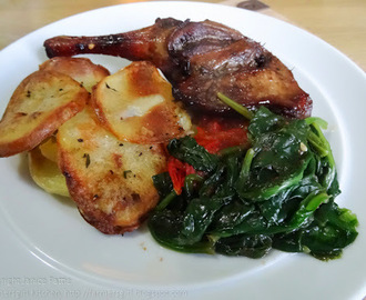 Duck Legs with 'Bramble' Gin and Duck Fat Potatoes - Dish of the Month