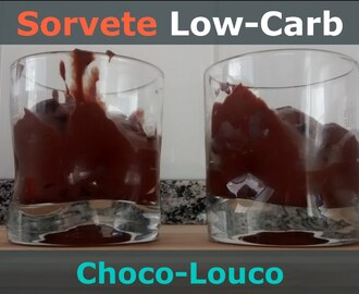 [RECEITA] SORVETE LOW-CARB DE CHOCOLATE