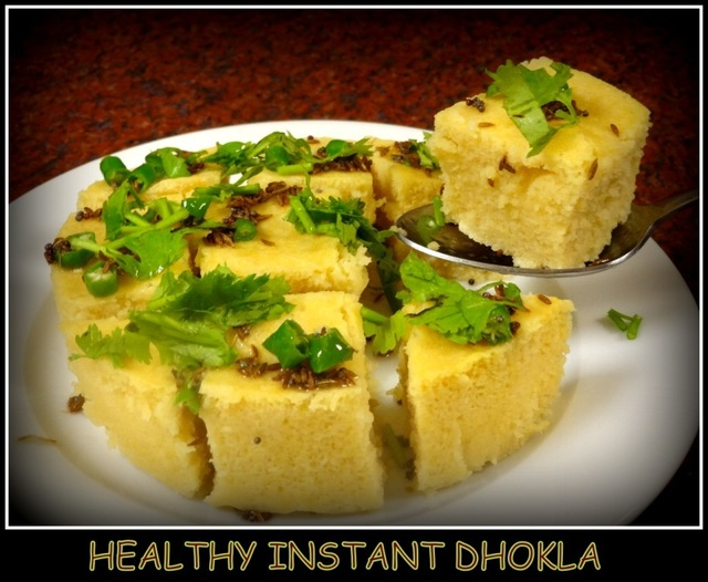 Healthy Instant Dhokla