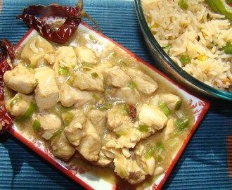 Chinese style stir fried chicken