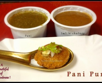 Pani Puri/ Golgappa - A Popular Indian Street Food Item