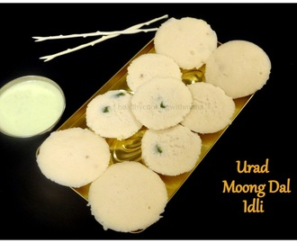 Urad Moong Dal Idli - A Healthy 'No Rice' Idli Recipe