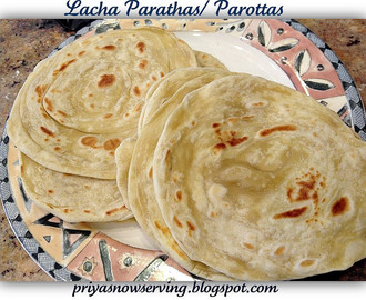 Lacha Parathas or South Indian Parottas