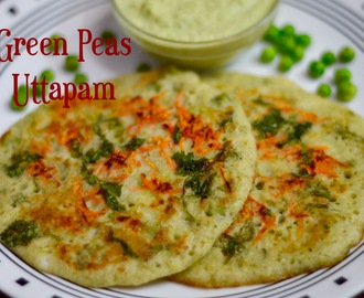 Green Peas Uttapam Recipe|Left Over Dosa/Idli Batter