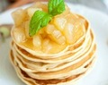 Banana Pancakes With Caramelized Apples