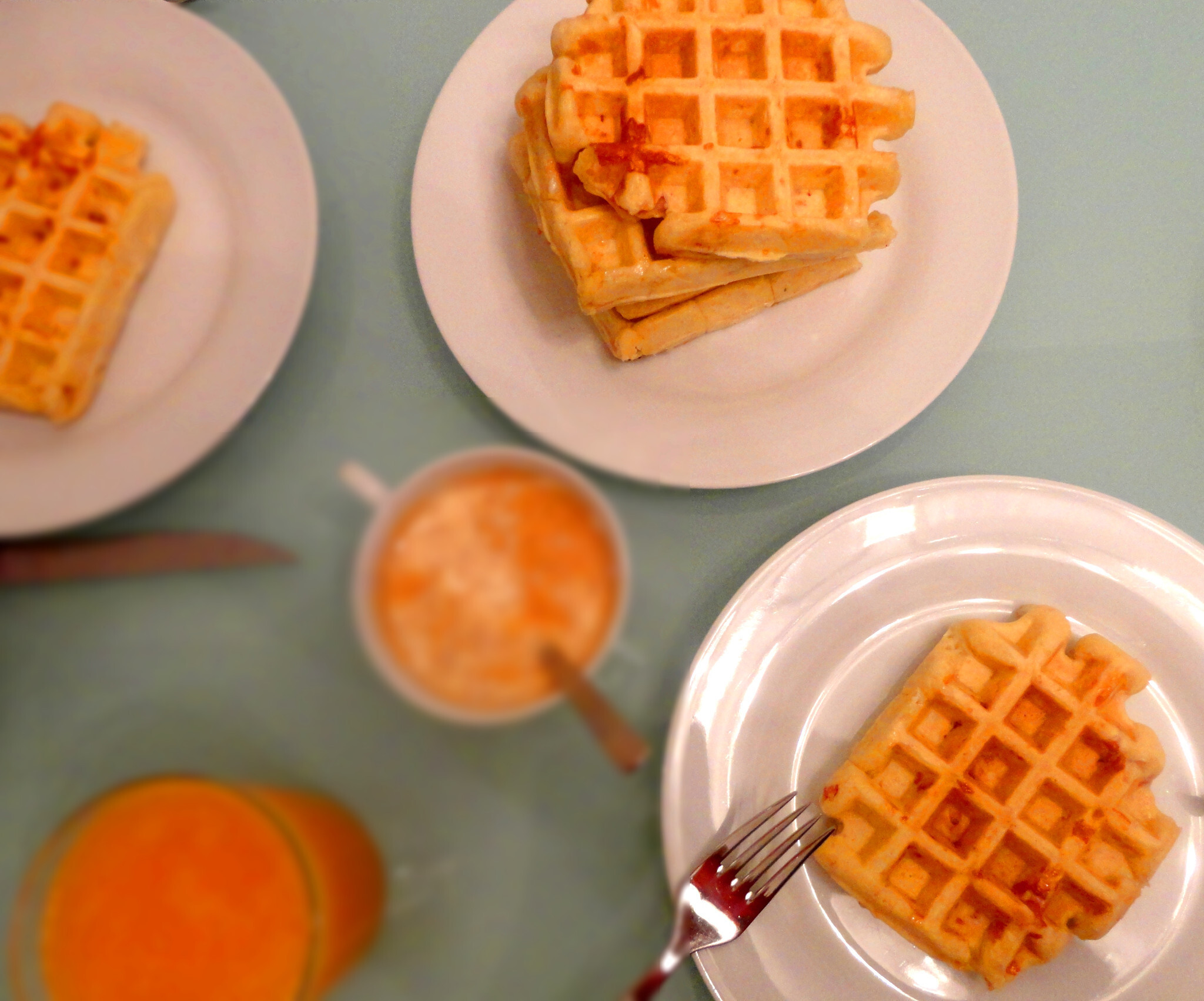 Bacon & Cheese Waffles (Gofres de Bacon y Queso)