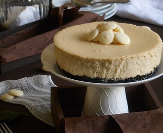 Cheesecake de chocolate blanco y baileys