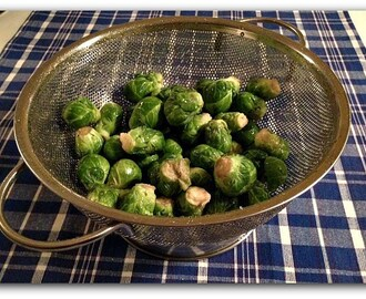 Roasted Brussels Sprouts with Truffle Oil
