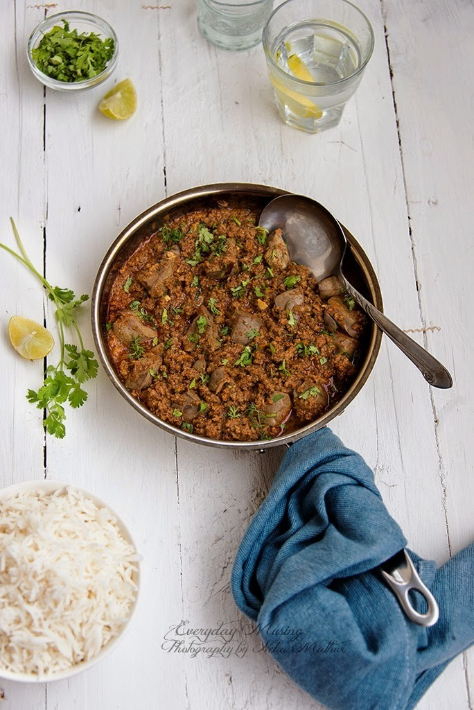 Keema Kaleji \ Mutton Mince and Liver in a Spicy Curry