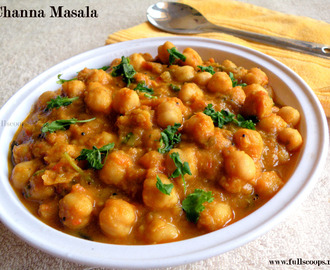 Chole Masala / Channa Masala without Coconut
