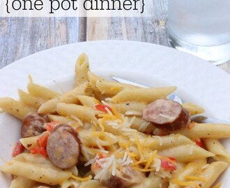 Easy Cheesy Pasta and Sausage Skillet Dinner