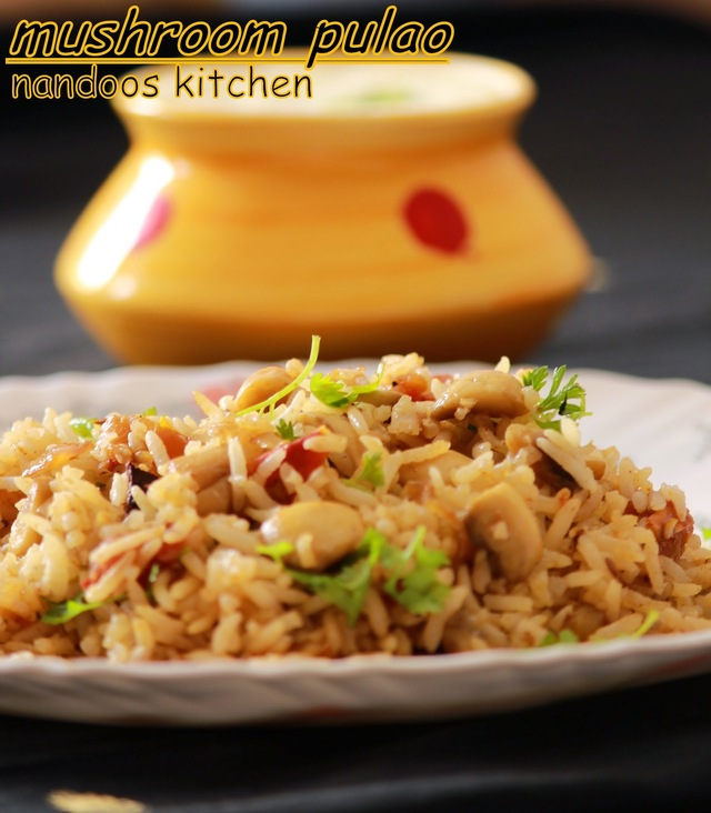 Mushroom pulao / Easy lunch box recipe