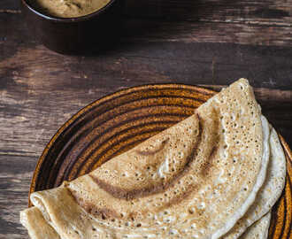 Barley & Brown Rice Dosa / Fermented Barley Crepe - Breakfast Recipes
