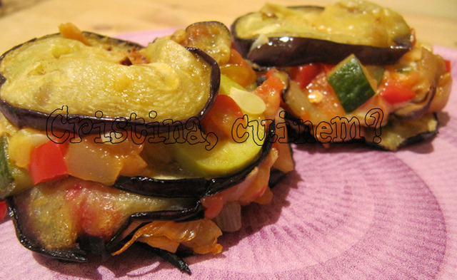 Aubergine timbales  (timbals d'asbargínyia)