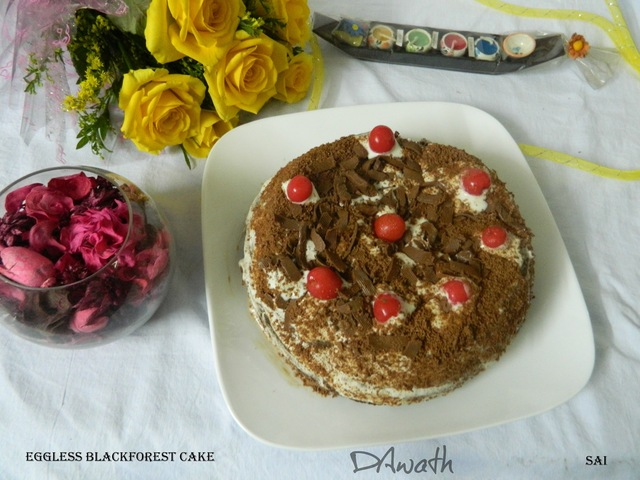 Black forest cake (Eggless)