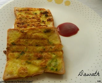 Eggless savoury french toast