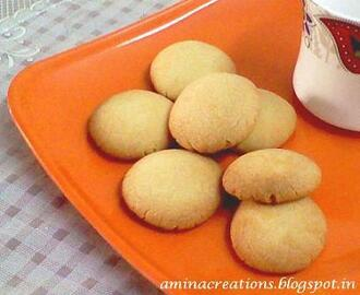 MINI BUTTER COOKIES (EGGLESS)