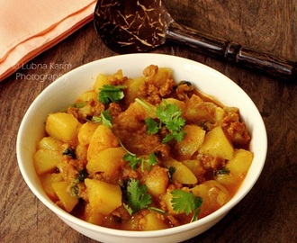Kheema-Aloo ka Salan - Rich and Creamy combination of Minced Lamb Meat and Potatoes