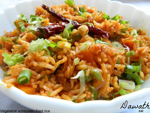 Vegetable Schezwan fried rice