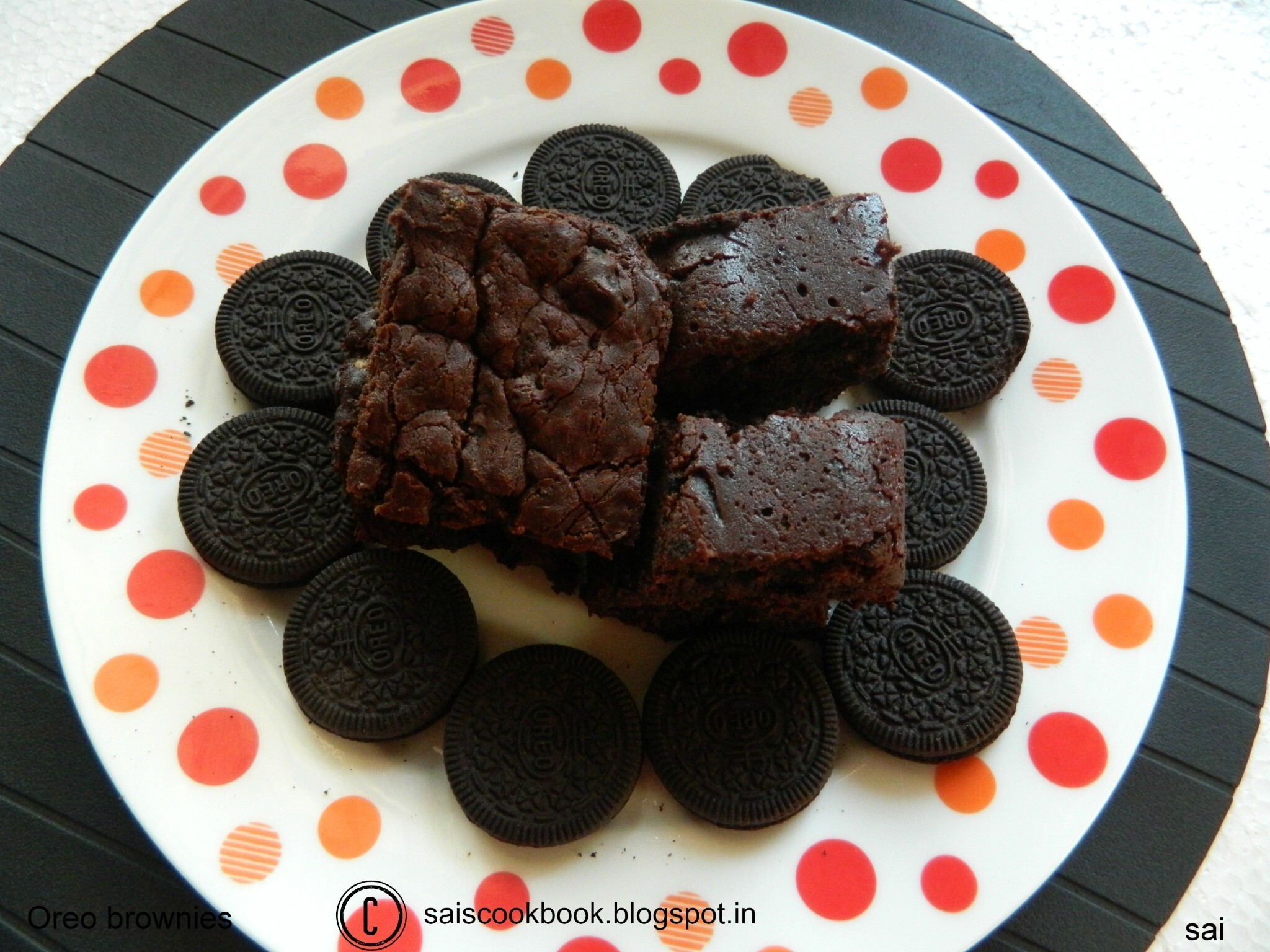 Oreo brownies(Eggless)