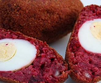 Vegetarian Beetroot Scotch Eggs