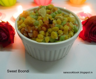Sweet boondi for this Diwali