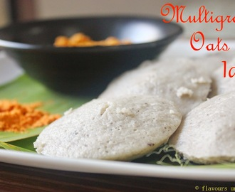 Multigrain Oats Idli / Steamed Cakes