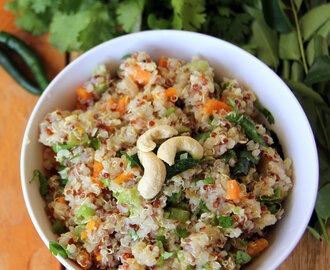 Quinoa upma - Qunioa Savory salad - Healthy breakfast, lunch, dinner