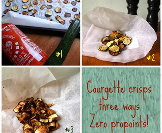 Courgette crisps three ways