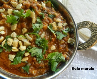 Kaju Masala,A cashewnut based curry with stepwise pictures