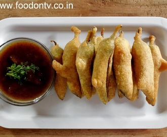 Crispy Chili Fritters Recipe-Indian Gujarati Vegetarian Snack Recipe