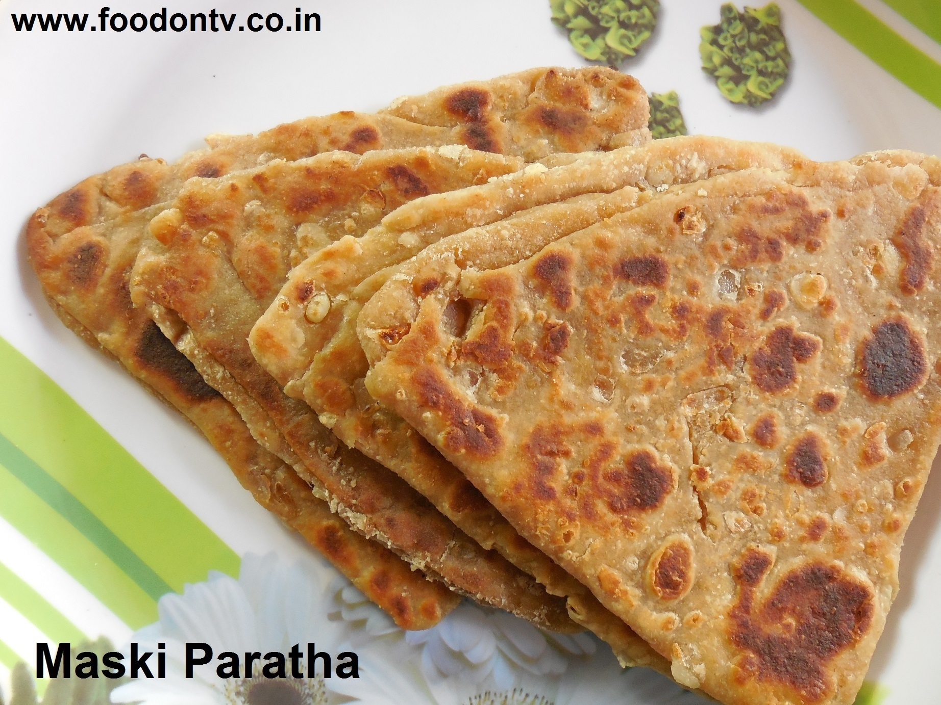 Maski Paratha Recipe- A New Indian Vegetarian Flat Bread Recipe