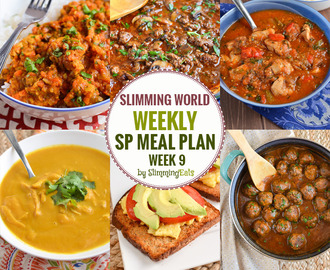 SP Slimming World Weekly Meal Plans