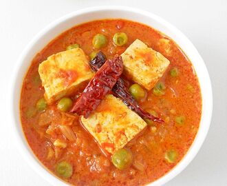 Tofu Matar Masala Curry Recipe
