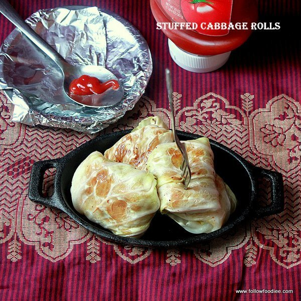 STUFFED CABBAGE ROLLS RECIPE | LOW FAT RECIPES