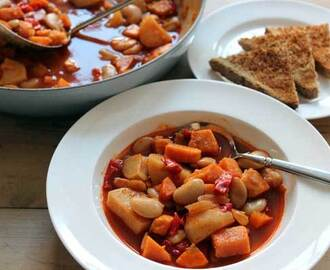 Smoky Butter Bean and Sweet Potato Hotpot