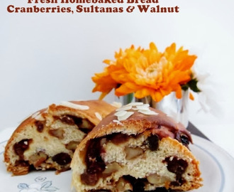 Cranberries, Sultanas & Walnut Bread