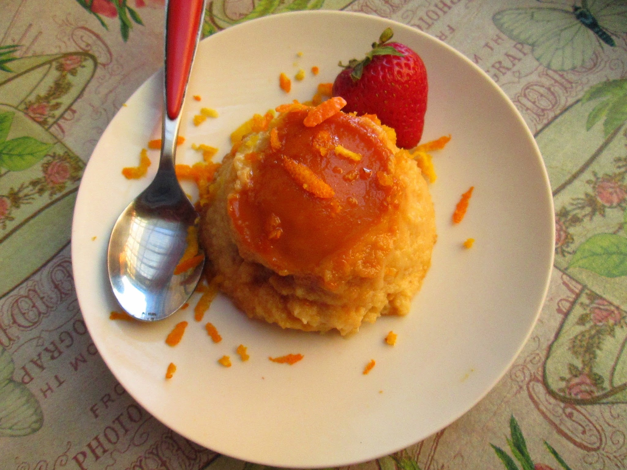 Mango and orange  flan (Flan de mango y naranja )