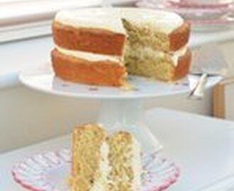 Spiced Grapefruit Cake with Lemon & Ginger Cream Cheese Frosting